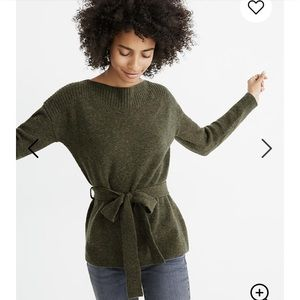 Madewell Sweaters - BNWT! Madewell - Boat Neck Waist-tie Sweater